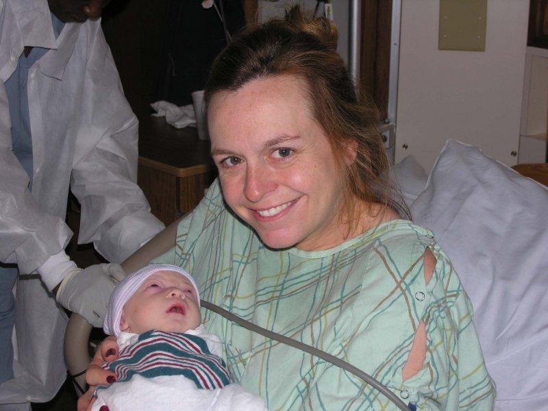 Magy with baby, born 6:15 am November 24, 2006