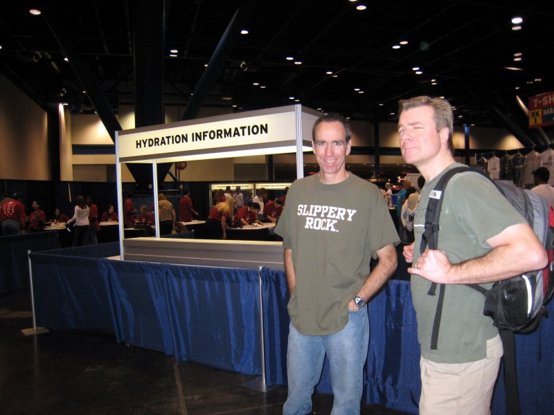 Hydration Initiative section with information and scales at the expo