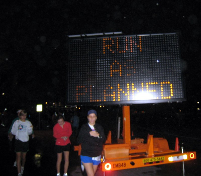 so, runners were told to run as planned