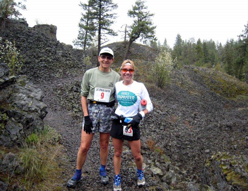 Gunhild & me:  rocky trail