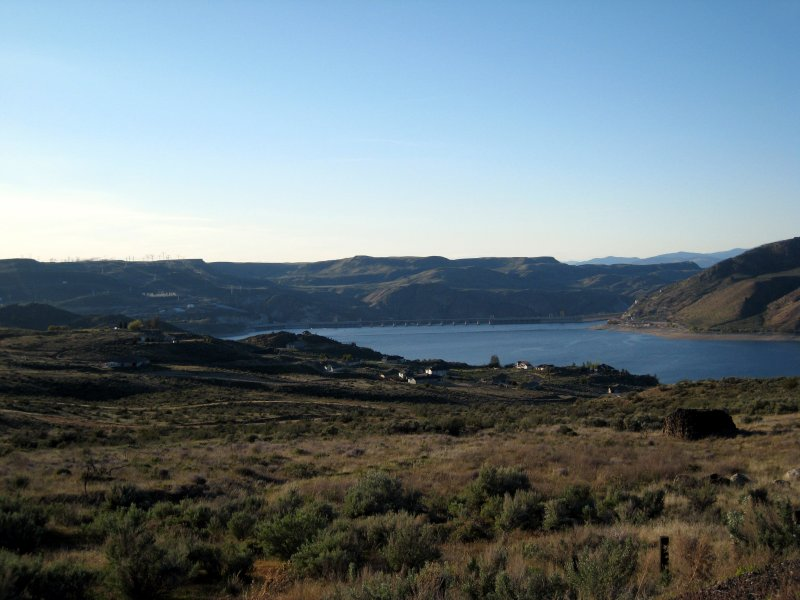 Grand Coulee Dam in the distance
