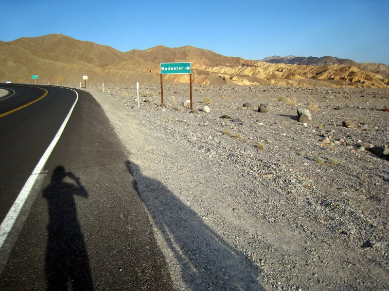 towards Badwater road