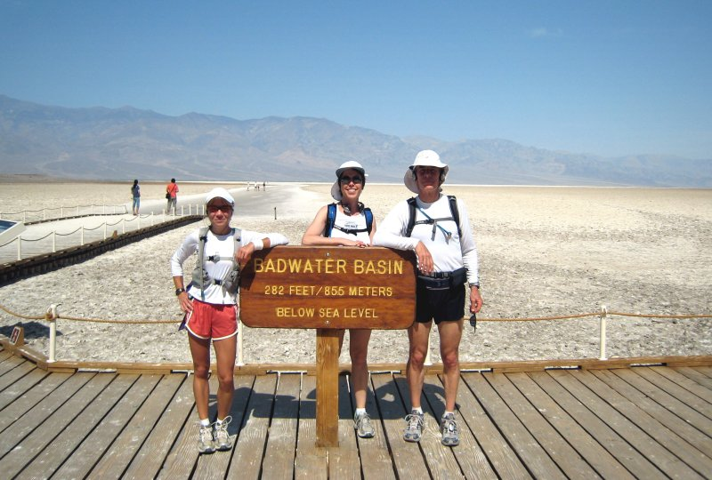 Me, Helen & Dave at the Badwater Basin, 282 feet below sea level