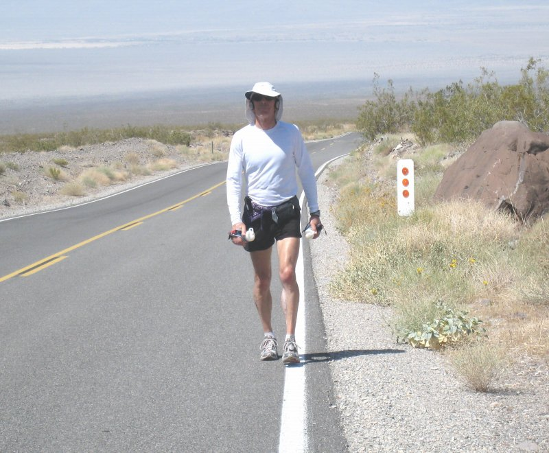 Dave near the top of Towne Pass