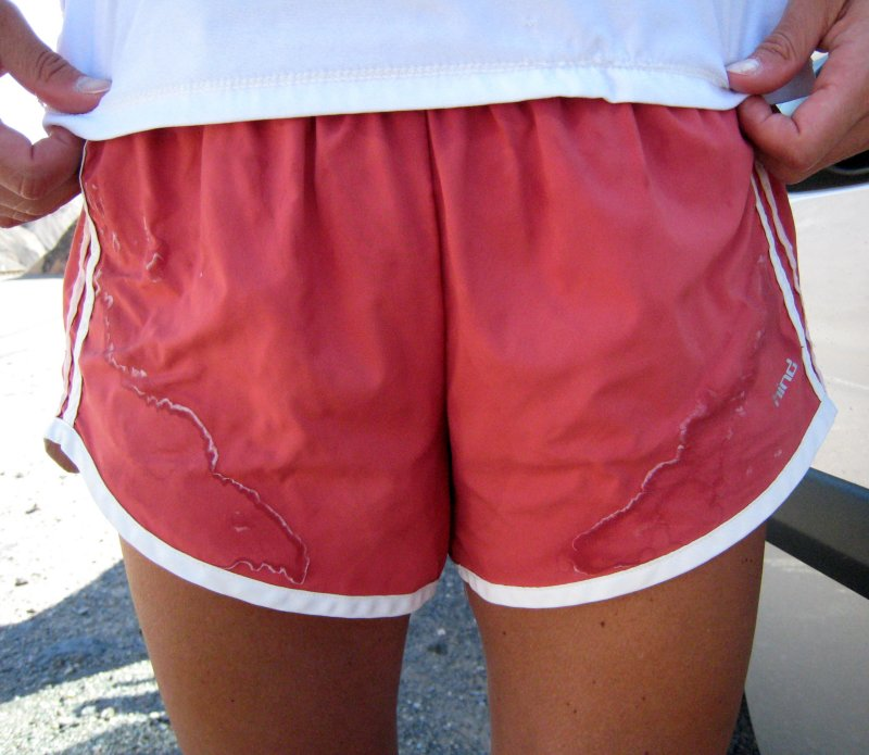 salt-crusted shorts