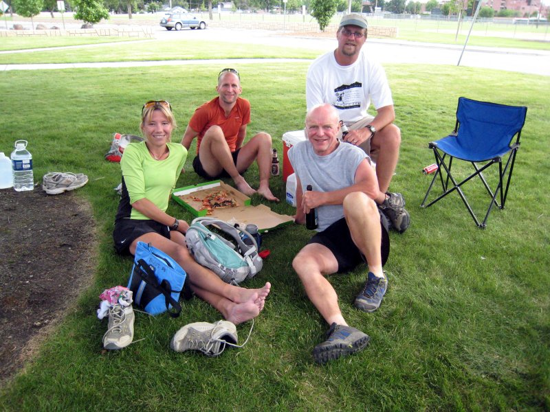 tired runners (me, Tim, Jim Updegrove) and Frank, the RD (who Im sure is tired too!)