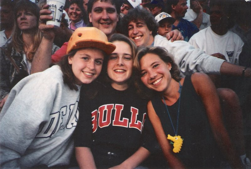 Magy, Nancy (RIP), me & new friends at the Brewers Game