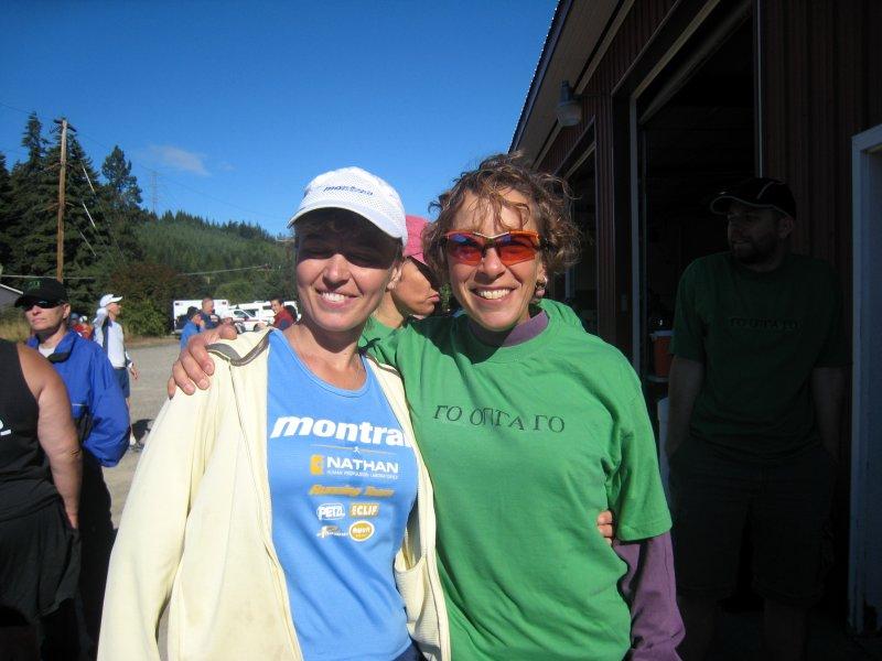 Olga (runner) & Maura (crew/pacer) at the start