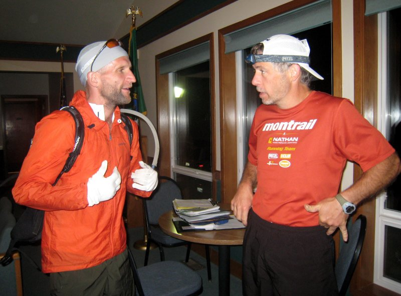 The two Tims: Englund & Stroh (previous course record holder in 26:59:40)