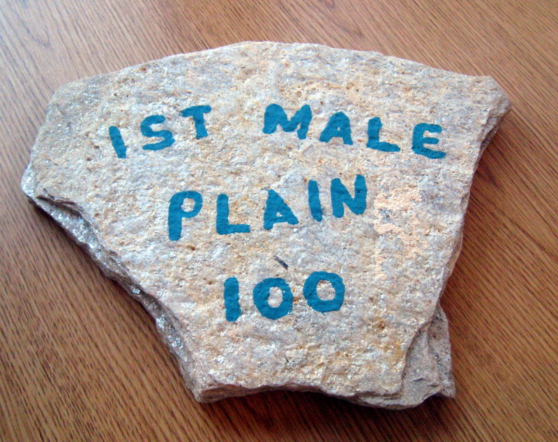 1st place Plain male (thats what it SHOULD say!)