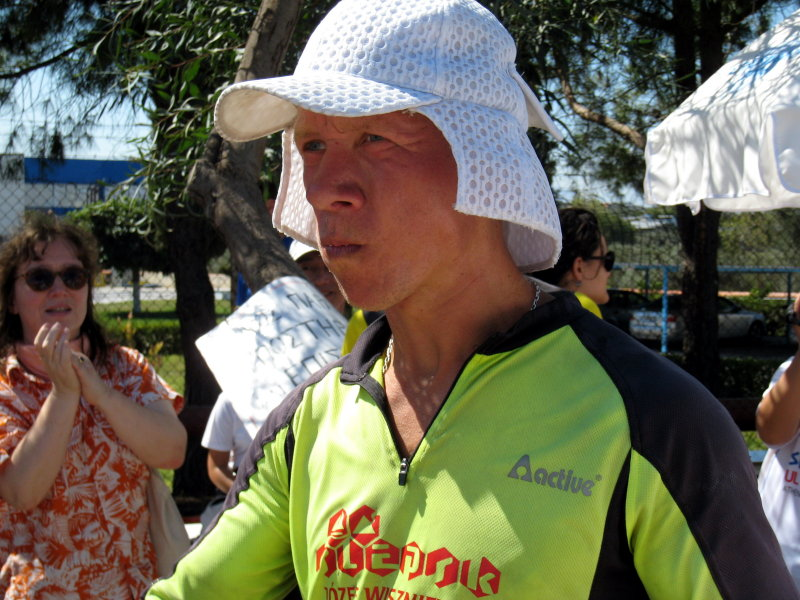 Piotr ran from Poland to Athens to run the race