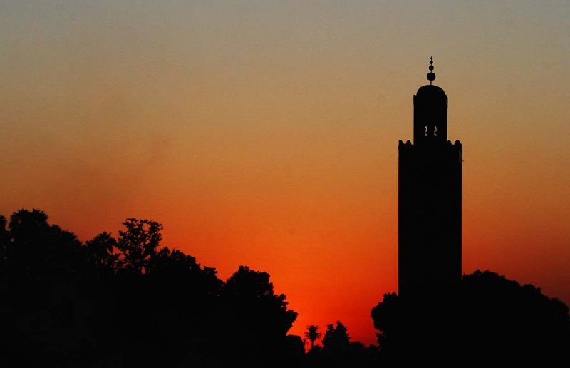 Sunset behind the Koutoubia mosque