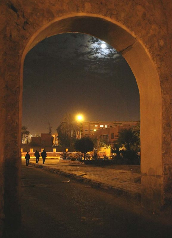 First night - one of the gates in the city wall