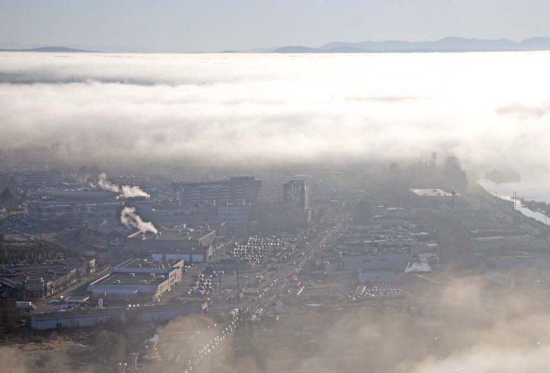 Landing in Vancouver in fog