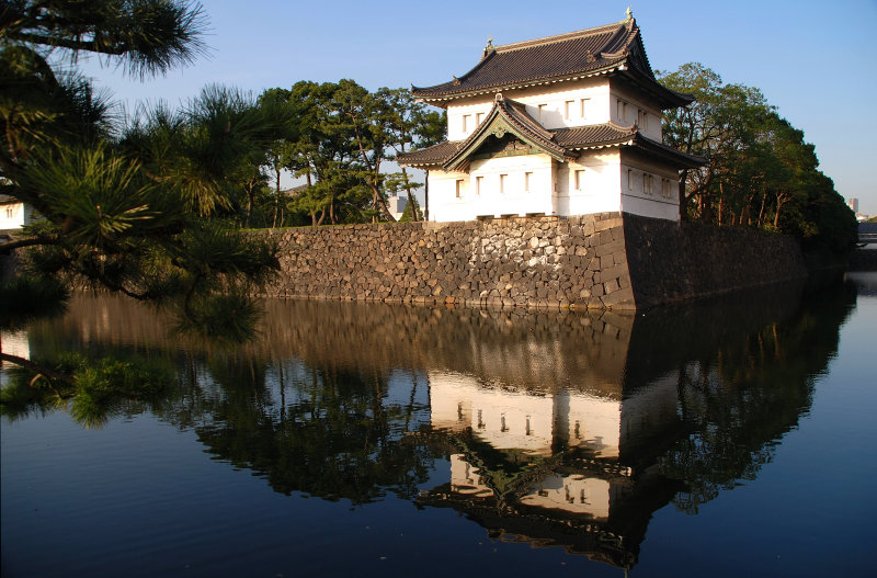 Different angle for the Guards Tower of the Imperial Palace