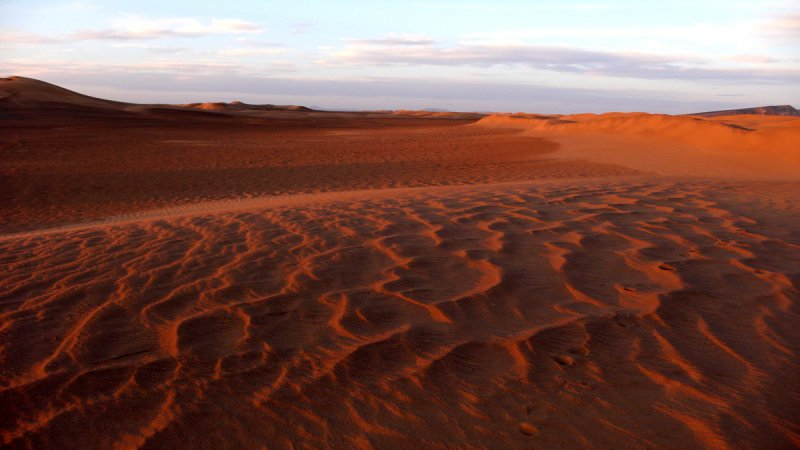 Sahara sunset, Erg Chebbi, Morocco, 2006