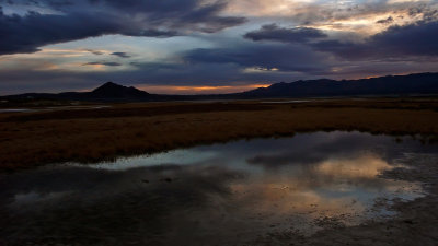 Clouds up and down, Tecopa Hot Springs, California, 2007