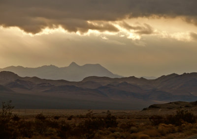Storm at dawn, Death Valley Junction, California, 2007