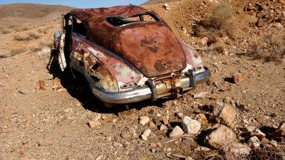 Abandoned car, Auguereberry Camp, Death Valley National Park, California, 2007