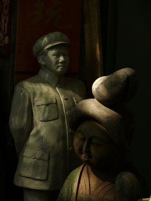Sculpture for sale, Flea Market, Chaotian Palace, Nanjing, China, 2007