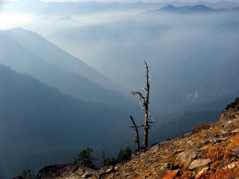 Smoke lingers in Wooley Creek canyon