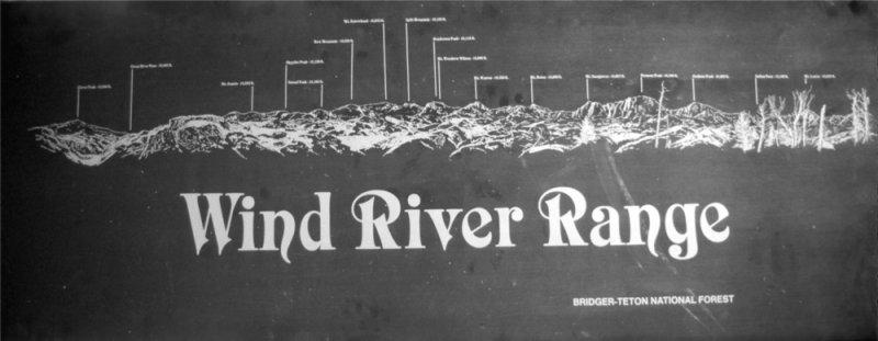 Wind River Range sign
