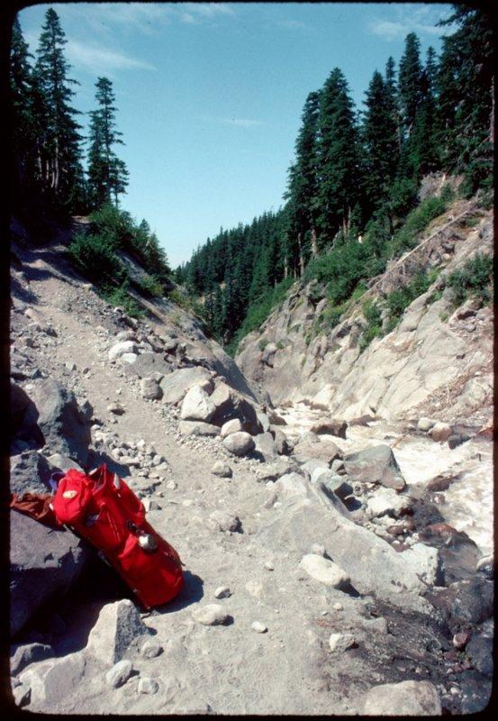 Rest break on PCT 1977 -  Russell Creek Mt Jefferson Wilderness