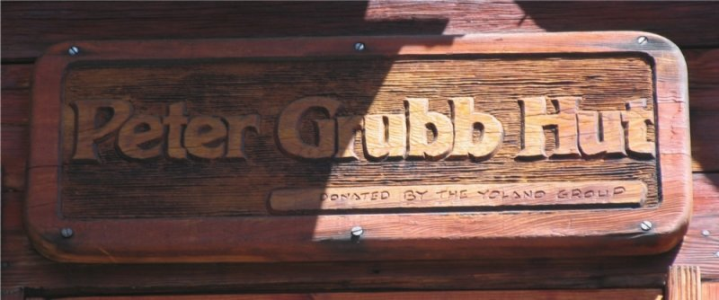 Peter Grubb Hut sign