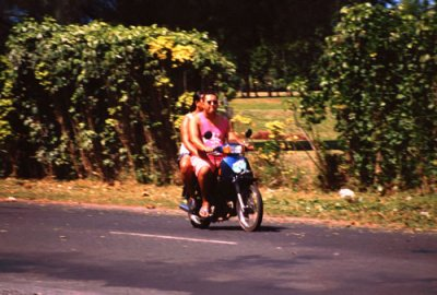 Locals on a Moped