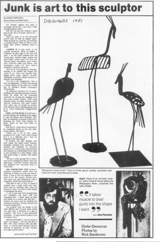 Globe-Democrat article 1981