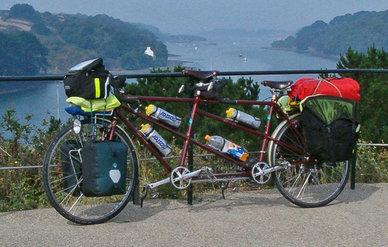 130  Derek & Mary - Touring France - George Longstaff touring bike
