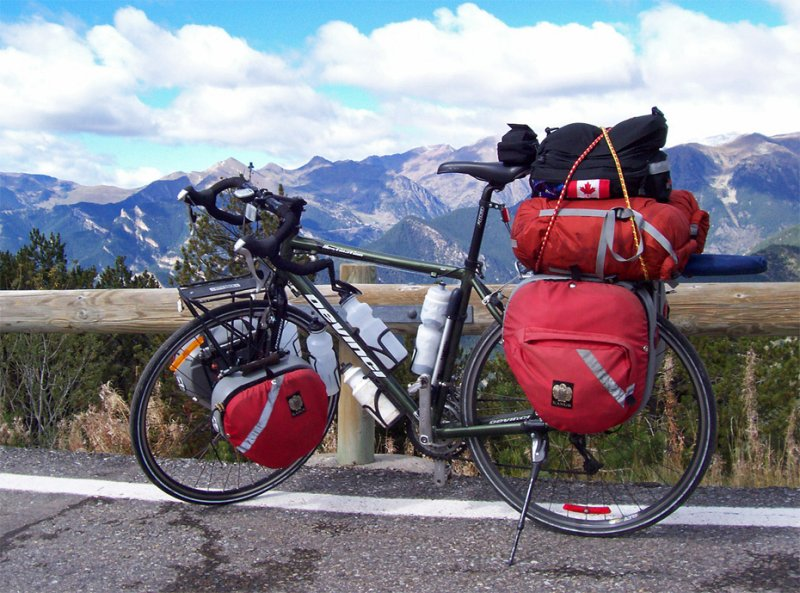 159  Louis - Touring through Andorra - Devinci Destination touring bike