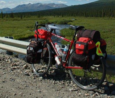 183  Ron - Touring Alaska - Rocky Mountain Bicycles Sherpa touring bike