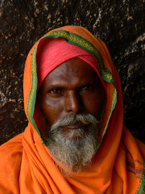 Portrait of a saddhu Hampi