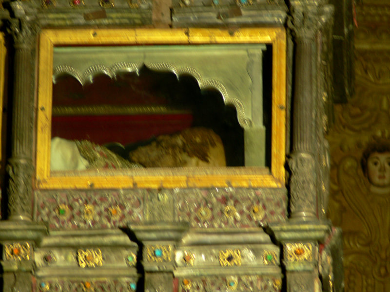 Mortal remains of St Francis Xavier