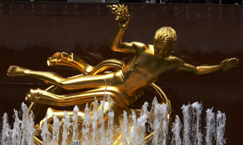 Afloat at Rockefeller Center
