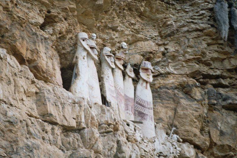 The Karajia Sarcophagi date from 1200 AD