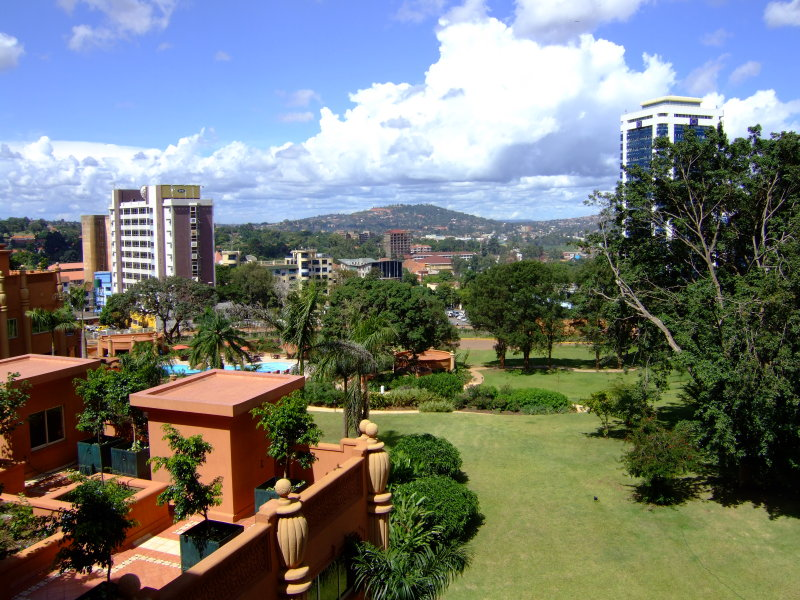 View of Kampala from the Serena Hotel
