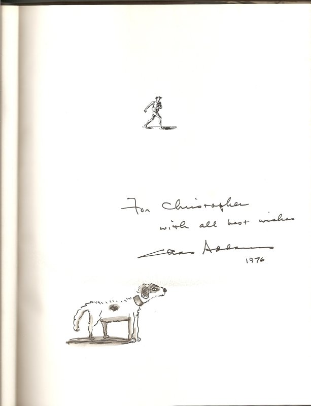 A copy with a drawing of Alice B. Curr, Addamss favorite dog