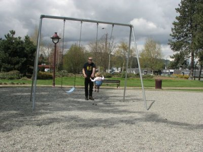 First we start on the swing.  I love this one.