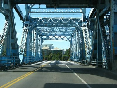 Little blue bridge.
