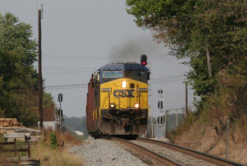 CSX 695 Q645 Decker IN 14 Sept 2007