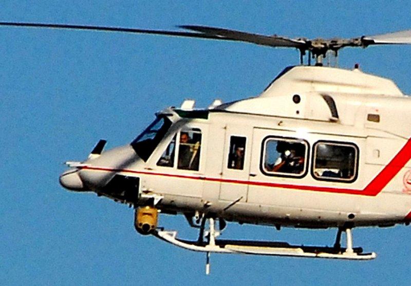Closeup of the Dubai police helicopter