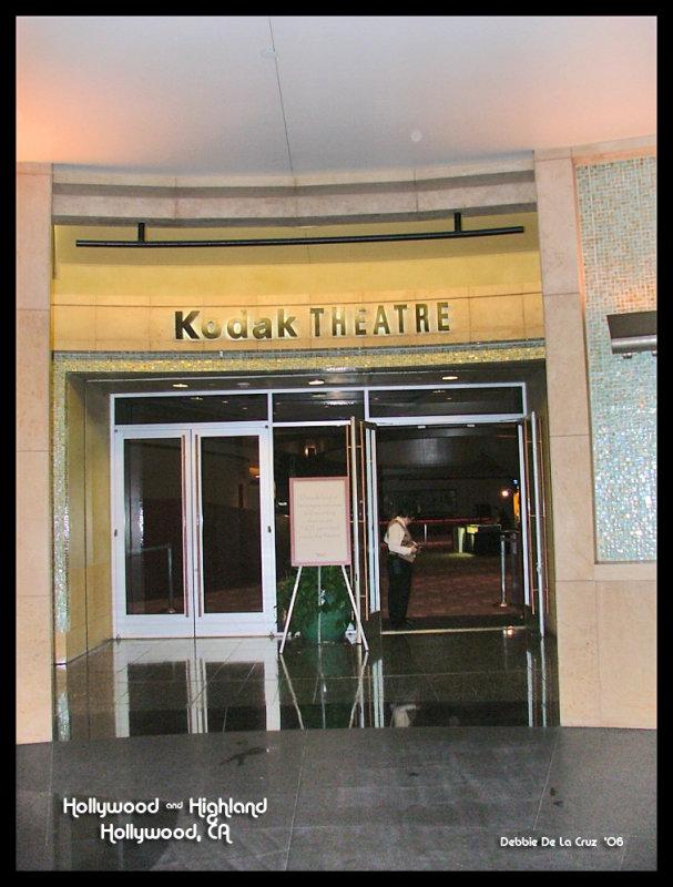 Kodake Theatre Entrance