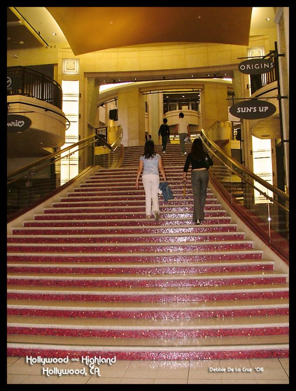 Where they roll the red carpet for the Awards.