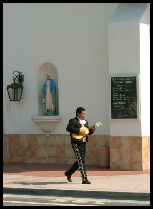 El Mariachi and Our Lady of Solitude, Catholic Church Palm Springs