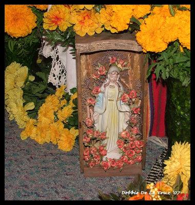 Virgen with Marigolds