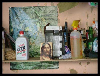 shelf in someones garage