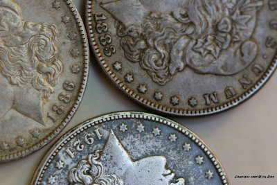 ANTIQUE SILVER DOLLARS