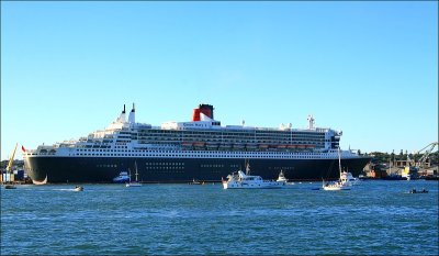 Queen Mary 2 docked.